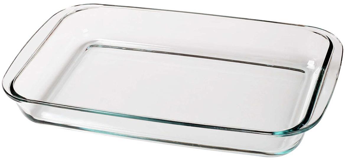 Прямоугольная форма для запекания объемом 2 л изготовлена из термостойкого и экологически чистого стекла. Изделие применяется для приготовления пищи в духовке, жарочном шкафу и микроволновой печи. Пригодно для хранения и замораживания различных продуктов.