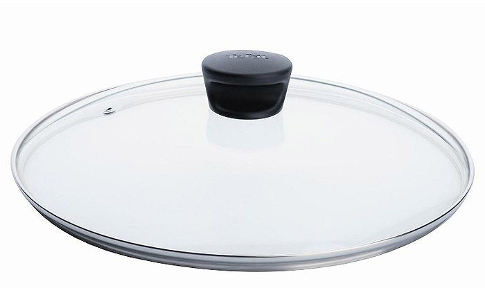"""Крышка """"Tefal"""" изготовлена из термостойкого стекла. Обод, выполненный из высококачественной нержавеющей стали, защищает крышку от  повреждений, а ручка, выполненная из термостойкого пластика, защищает ваши руки от высоких температур. Крышка удобна в использовании,  позволяет контролировать процесс приготовления пищи. Имеется отверстие для выпуска пара. Характеристики:  Материал: стекло, нержавеющая сталь, пластик. Диаметр: 30 см. Производитель: Франция. Изготовитель: Россия. Артикул: 040  90 130.  Дизайнер, производитель, пионер в области новейших технологий уже 50 лет, """"Tefal"""" представляет практичную и надежную кухонную посуду,  которая отвечает современным требованиям. Создавая новое, """"Tefal"""" всегда стремится улучшить результаты приготовления пищи. Новинки  намного упрощают цикл приготовления: ингредиенты не подгорают и сохраняют свой первозданный вкус,  посуда отличается легкостью очистки.  Индикатор нагрева для совершенства рецептов, возможность выбора посуды для индукционных плит, инновационное решение проблемы хранения  посуды и, как следствие, безупречное приготовление пищи!"""