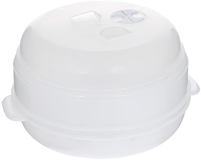 Пароварка для СВЧ Bradex Вкус и польза, двухуровневая , цвет: белый