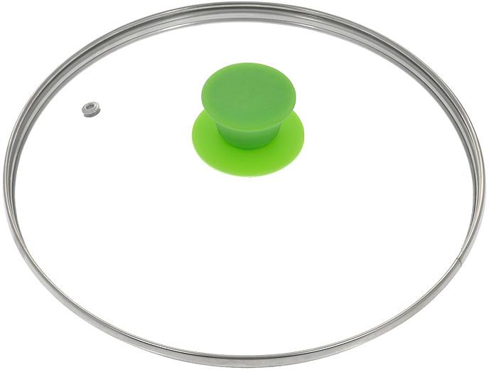 """Крышка Jarko """"Silk"""", изготовленная из термостойкого стекла, позволяет контролировать процесс приготовления без потери тепла. Ободок из нержавеющей стали предотвращает сколы на стекле. Крышка оснащена отверстием для выпуска пара. Эргономичная силиконовая ручка не скользит в руках и не нагревается в процессе приготовления пищи."""