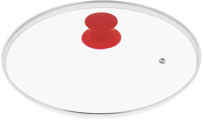 """Крышка Jarko """"Silk"""", изготовленная из термостойкого стекла, позволяет контролировать процесс приготовления пищи без потери тепла. Ободок из нержавеющей стали предотвращает сколы на стекле. Крышка оснащена отверстием для паровыпуска. Эргономичная силиконовая ручка не скользит в руках и не нагревается в процессе приготовления пищи."""