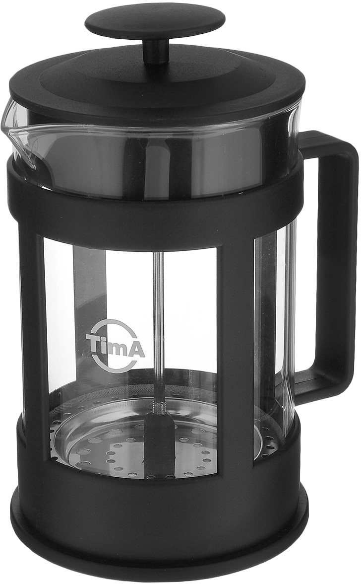 """Френч-пресс """"TimA """"Марципан"""", изготовленный из жаропрочного стекла и  высококачественного пластика, это совершенный чайник для ежедневного  использования. Изделие с плотной крышкой и удобной ручкой имеет специальный  поршень с фильтром из нержавеющей стали для отделения чайных листьев от  воды. После заваривания чая фильтр не надо вынимать. Заваривание чая - это приятное и легкое занятие. Френч-пресс """"TimA """"Марципан""""  займет достойное место на вашей кухне.  Нельзя мыть в посудомоечной машине. Объем: 1 л. Диаметр (по верхнему краю): 10 см. Высота (без учета крышки): 18,5 см."""