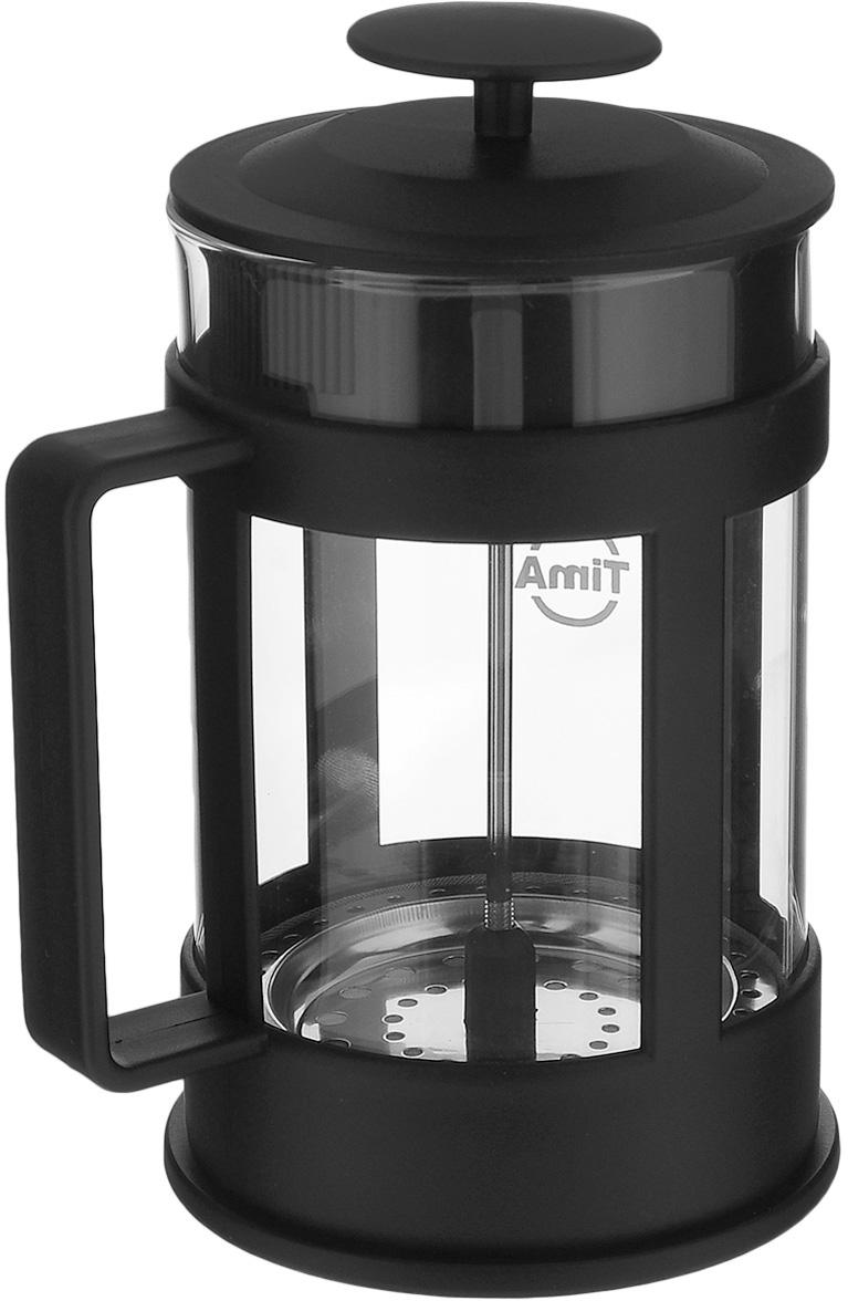 """Френч-пресс """"TimA """"Марципан"""", изготовленный из жаропрочного боросиликатного стекла и высококачественного пластика, это совершенный чайник для приготовления кофе или чая методом настаивания и отжима. Изделие с плотной крышкой и удобной ручкой имеет специальный поршень с фильтром из нержавеющей стали для отделения чайных листьев от воды. После заваривания чая фильтр не надо вынимать.Заваривание чая - это приятное и легкое занятие. Френч-пресс """"TimA """"Марципан"""" займет достойное место на вашей кухне. Можно мыть в посудомоечной машине.Объем: 350 мл.Диаметр (по верхнему краю): 7 см.Высота (без учета крышки): 13,5 см."""