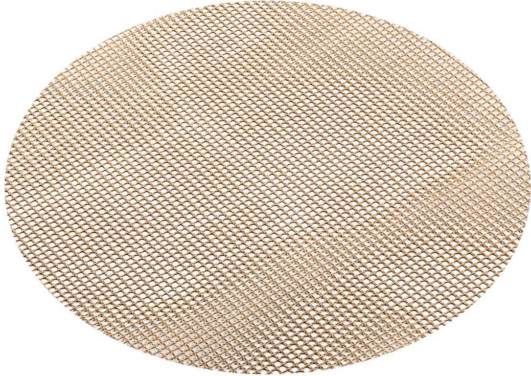 """Сетка """"Marmiton"""" предназначена для приготовления любых продуктов в газовых и электрических духовках, на гриле, без масла и жира. Благодаря равномерной циркуляции воздуха, позволяет добиться хрустящей корочки. Сетка изготовлена из стекловолокна с антипригарным покрытием. Для многоразового использования.  Диаметр: 24 см.  Температурный режим: от - 60°С до + 260°С."""