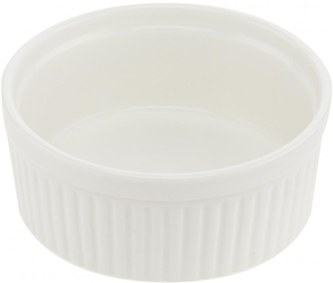 """Горшок для запекания Walmer """"Classic"""" круглой  формы изготовлен из  высококачественного фарфора. Изделие подходит  для запекания различных блюд и может быть  использовано для подачи на стол. Такое изделие станет отличным дополнением к  вашему кухонному инвентарю, а также украсит  сервировку стола и подчеркнет прекрасный вкус  хозяина.  Можно использовать в микроволновой печи.  Диаметр (по верхнему краю) : 12 см. Диаметр основания: 10,5 см.  Высота стенок: 5 см."""