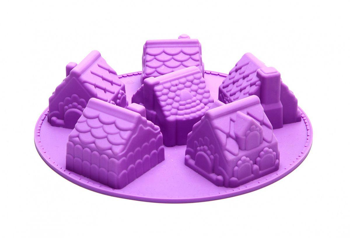 """Красивая подача десерта приносит не меньшее удовольствие, чем его безупречный вкус!  Форма для выпечки """"Имбирный домик"""" станет отличным подарком для хозяйки, стремящейся создать уют на кухне и в доме!  Миниатюрный кекс """"Имбирный домик"""", украшенный кремом, драже или сахарной пудрой, станет вашим настоящим кулинарным шедевром. Оригинальный, с множеством мелких деталей, десерт впечатлит детей и взрослых!  Антипригарная форма для выпечки """"Имбирный домик"""" не требует смазки маслом и позволяют легко вынуть десерт: достаточно аккуратно вывернуть форму, предварительно немного охладив ее.     Как выбрать форму для выпечки – статья на OZON Гид."""