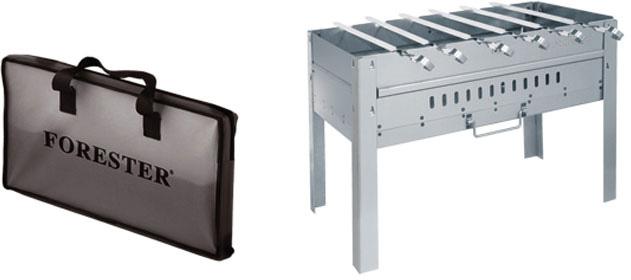 """Удобный мангал-дипломат """"Forester"""", изготовленный из жаропрочной углеродистой стали, станет отличным подарком для всех любителей пикника. Мангал имеет ребра жесткости, придающие конструкции дополнительную прочность, к тому же он хорошо поддерживает жар, не требуя большого количества топлива. В комплект с мангалом входят 6 шампуров, изготовленных из пищевой нержавеющей стали. При необходимости мангал легко трансформируется в чемоданчик, что делает его необычайно удобным при хранении и транспортировки. А для большего удобства мангал в сложенном виде и шампура хранятся в сумке-чехле с удобной ручкой.     Характеристики:   Материал: сталь, древесный уголь. Размер мангала: 49 см x 27 см x 36 см. Толщина стенок: 0,9 мм. Длина шампура: 45 см. Изготовитель: Китай. Артикул: BC-781.   FORESTER - бренд с широкими интернациональными традициями и в этом секрет его успеха.  FORESTER впитал в себя самое лучшее из созданного предшественниками, поэтому продукция фирмы - это все самое качественное  для вашего пикника!   Разработано компанией """"Ruyan Co"""", Германия."""