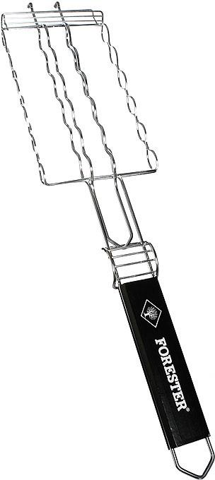 """Решетка-гриль """"Forester"""" предназначена для приготовления сосисок, колбасок, шпикачек, купат и сарделек на углях. Решетка изготовлена из стали с коррозионностойким покрытием и идеально подходит для мангалов и барбекю.  Решетка-гриль имеет фиксирующее кольцо на ручке, что обеспечивает надежную фиксацию, и """"усики"""", которые позволяют расположить решетку на мангале или барбекю, задействовав всю ее рабочую поверхность. Деревянная ручка предохраняет руки от ожогов и удобна для обхвата двумя руками, что помогает легко переворачивать загруженную решетку.   Характеристики:Материал:  сталь, дерево. Длина ручки: 30 см. Размер решетки:  12 см х 22 см. Регулируемая высота решетки: 1,7-3,5 см. Производитель: Китай. Артикул: BQ-N16.  Forester - брэнд с широкими интернациональными традициями и в этом секрет его успеха.  Forester впитал в себя самое лучшее из созданного предшественниками, поэтому продукция фирмы - это все самое качественное для вашего пикника.  Разработано компанией """"Ruyan Co"""", Германия."""