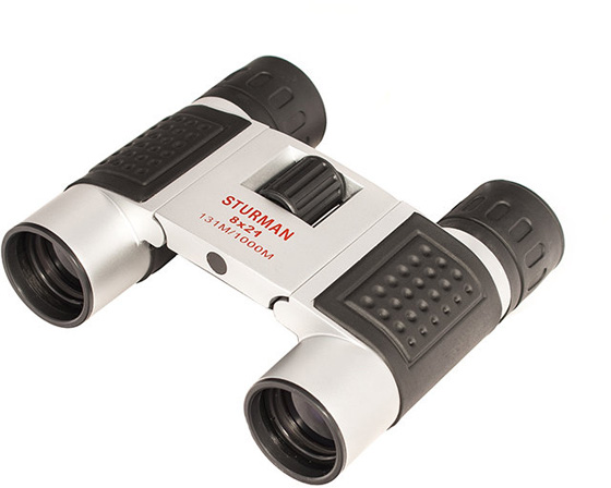 Бинокль Sturman 8x21, цвет: серебристый бинокль bushnell powerview roof 8x21