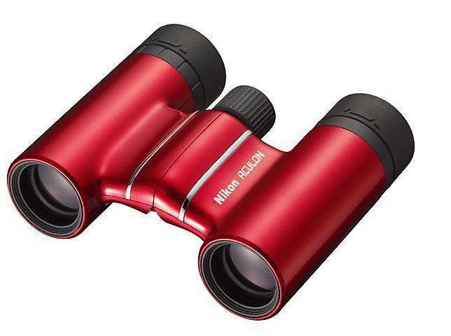 Бинокль Nikon Aculon T01 10x21, цвет: красный