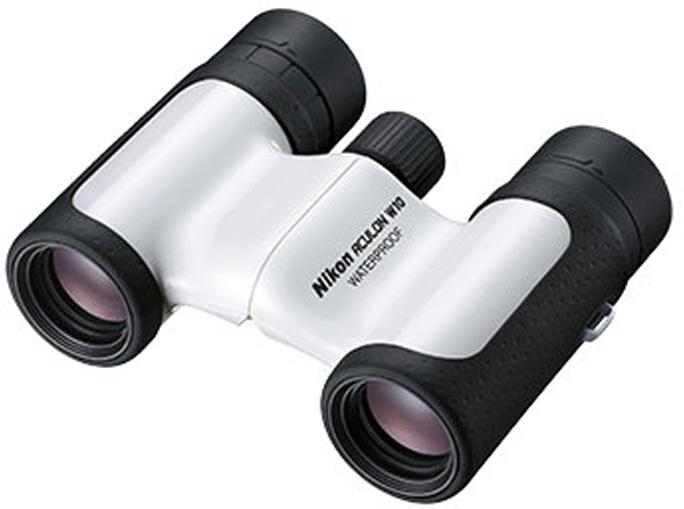 Бинокль Nikon Aculon W10 10x21, цвет: белый бинокль nikon prostaff 5 10x42