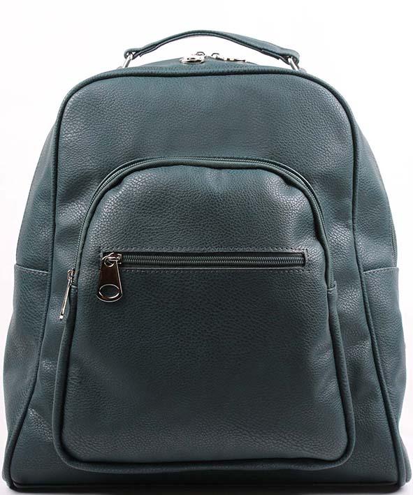 Рюкзак женский Медведково, цвет: темно-зеленый. 17с6171-к14