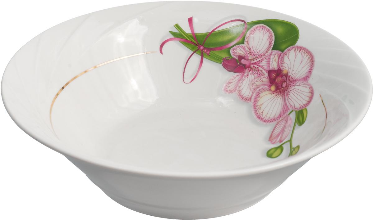 Салатник Белая орхидея, 1,2 л салатник добрушский фарфоровый завод рубин 600 мл