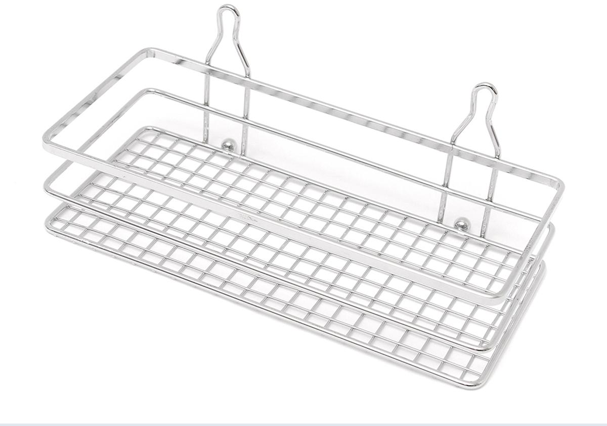 """Прямоугольная полка """"Verran"""" изготовлена извысококачественного металла с хромированным покрытием. Полка отлично подойдет для хранения различных ванныхпринадлежностей. Она впишется практически в любой интерьер ипоможет эффективно организовать пространство. Изделие крепится с помощью присосок."""