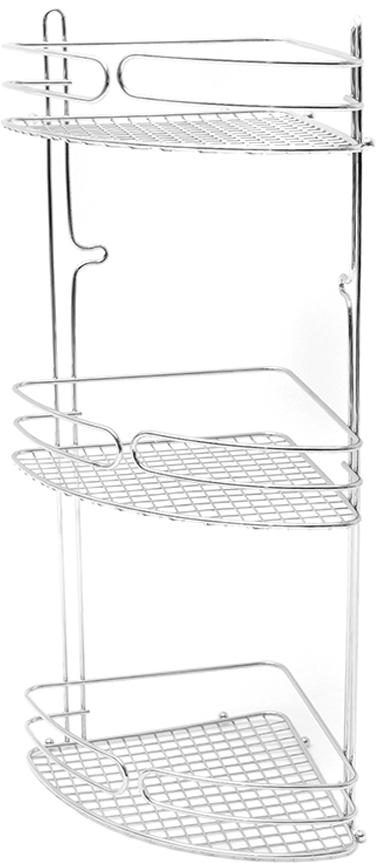 """Угловая 3-ярусная полка """"Verran"""" изготовлена извысококачественного металла с хромированным покрытием. Полка отлично подойдет для хранения различных ванныхпринадлежностей. Она впишется практически в любой интерьер ипоможет эффективно организовать пространство."""