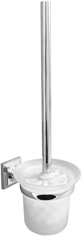 Ершик для унитаза Verran Pillar, настенный, с подставкой, цвет: серебристый ершик напольный verran ombre blue 790 23