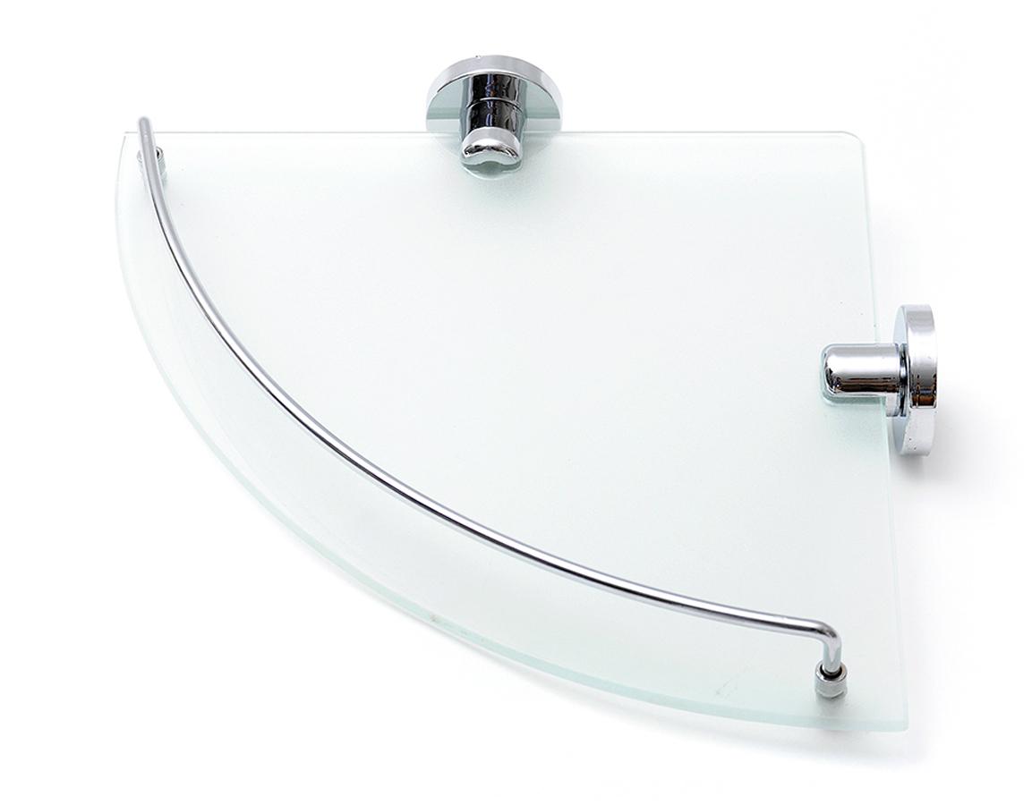 """Угловая полка """"Verran"""" изготовлена извысококачественного металла с хромированным покрытием и прочного стекла. Полка отлично подойдет для хранения различных ванныхпринадлежностей. Она впишется практически в любой интерьер ипоможет эффективно организовать пространство."""