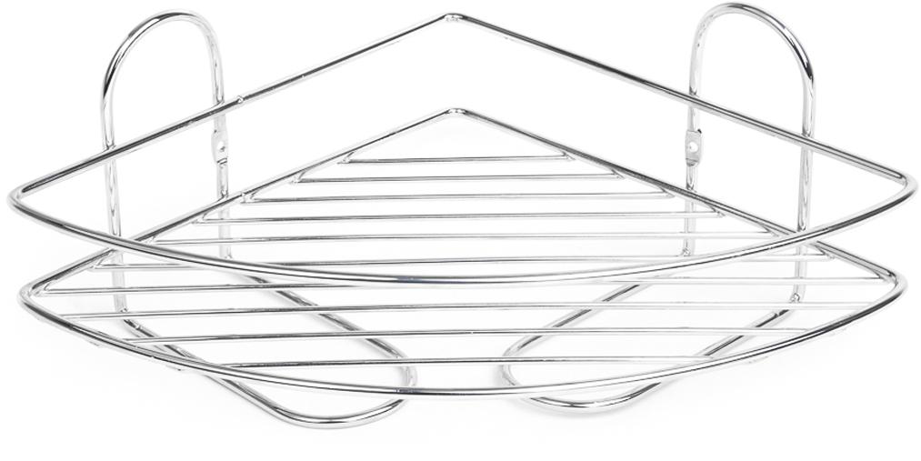 """Угловая полка """"Verran"""" изготовлена извысококачественного металла с хромированным покрытием. Полка отлично подойдет для хранения различных ванныхпринадлежностей. Она впишется практически в любой интерьер ипоможет эффективно организовать пространство."""
