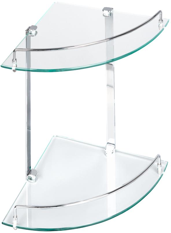 """Угловая 2-ярусная полка """"Verran"""" изготовлена извысококачественного металла с хромированным покрытием и прочного стекла. Полка отлично подойдет для хранения различных ванныхпринадлежностей. Она впишется практически в любой интерьер ипоможет эффективно организовать пространство."""