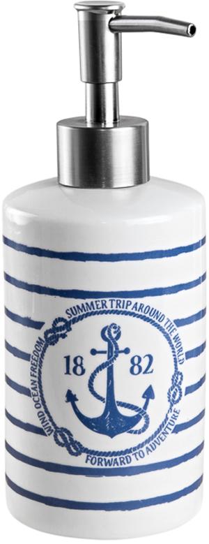 Диспенсер для жидкого мыла Verran изготовлен из керамики. Для ухода использовать мягкую салфетку, щадящее моющее средство.