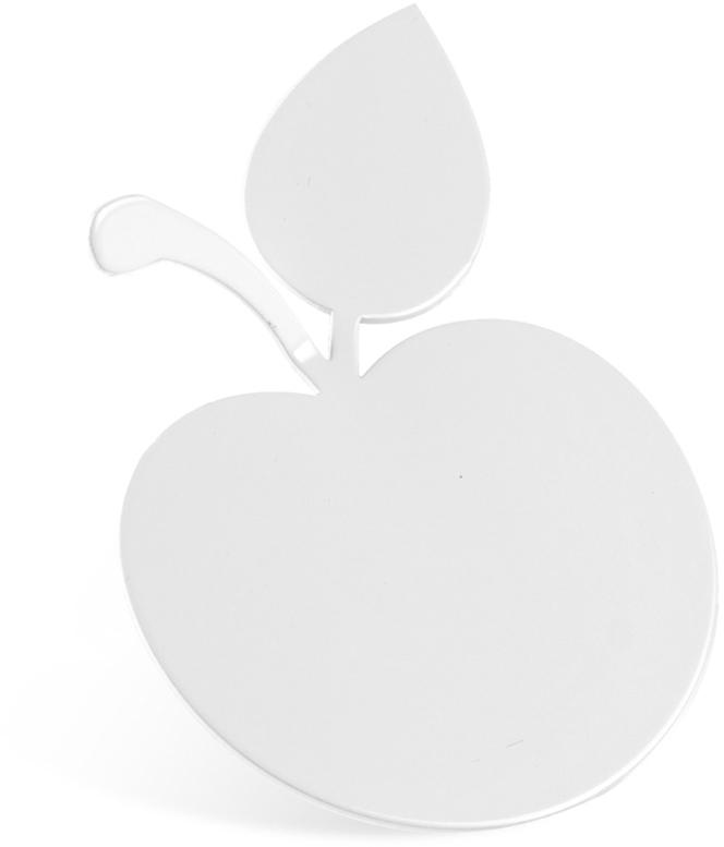 """Крючок Moroshka """"Fairytale. Apple"""" выполнен из металла. Крепится при помощи клейкой ленты."""