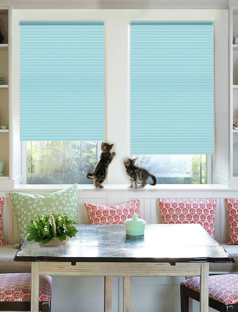 Штора рулонная Эскар Райли, цвет: бирюзовый, ширина 43 см, высота 160 см38054043160Рулонными шторами можно оформлять окна как самостоятельно, так и использовать в комбинации с портьерами. Это поможет предотвратить выгорание дорогой ткани на солнце и соединит функционал рулонных с красотой навесных. Преимущества применения рулонных штор для пластиковых окон: - имеют прекрасный внешний вид: многообразие и фактурность материала изделия отлично смотрятся в любом интерьере;- многофункциональны: есть возможность подобрать шторы способные эффективно защитить комнату от солнца, при этом она не будет слишком темной. - Есть возможность осуществить быстрый монтаж.ВНИМАНИЕ! Размеры ширины изделия указаны по ширине ткани! Во время эксплуатации не рекомендуется полностью разматывать рулон, чтобы не оторвать ткань от намоточного вала. В случае загрязнения поверхности ткани, чистку шторы проводят одним из способов, в зависимости от типа загрязнения:- легкое поверхностное загрязнение можно удалить при помощи канцелярского ластика;- чистка от пыли производится сухим методом при помощи пылесоса с мягкой щеткой-насадкой;- для удаления пятна используйте мягкую губку с пенообразующим неагрессивным моющим средством или пятновыводитель на натуральной основе (нельзя применять растворители).