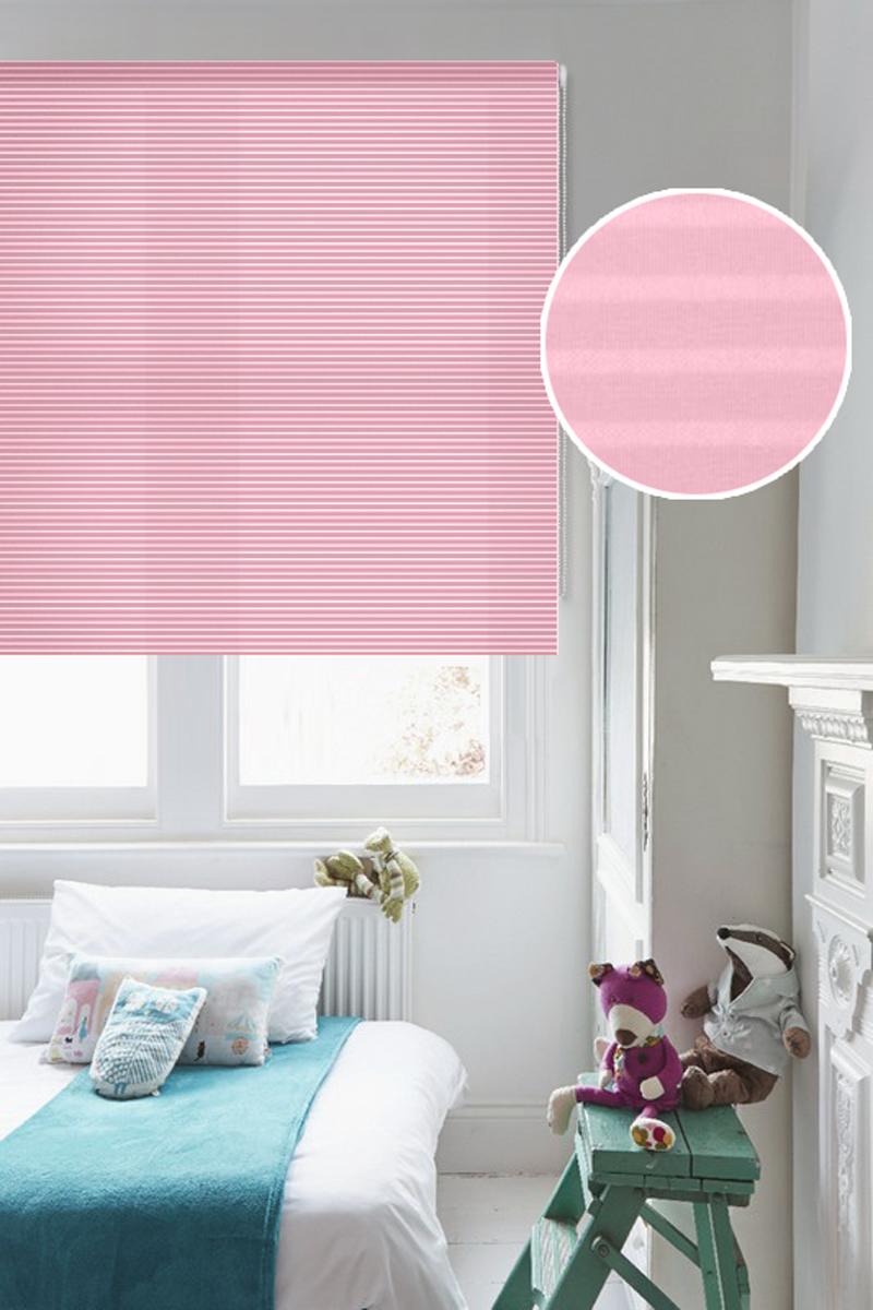 """Штора рулонная Эскар """"Райли"""", цвет: розовый, ширина 160 см, высота 160 см"""