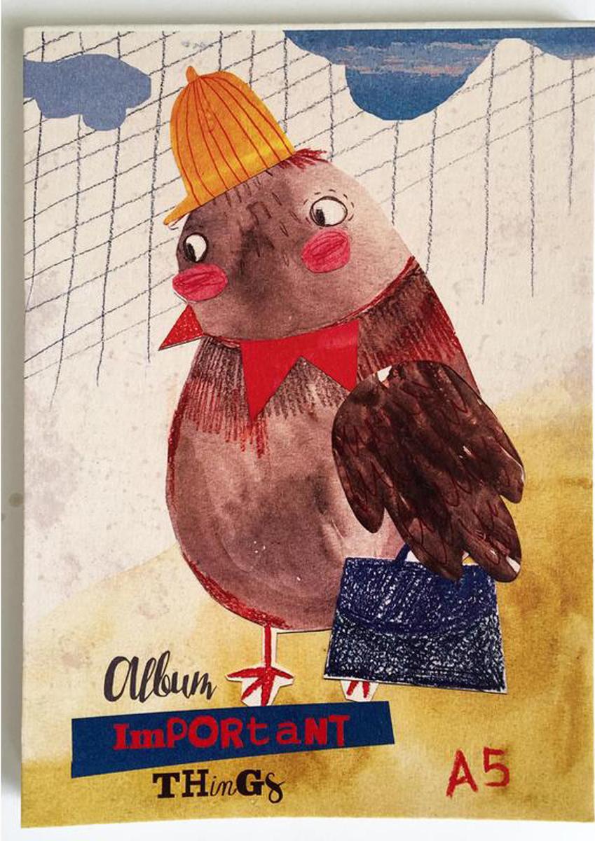Kroyter Альбом для рисования Деловой воробей А5 30 листов альбом для акварели воронцовский дворец 20 листов а5 ал 6730