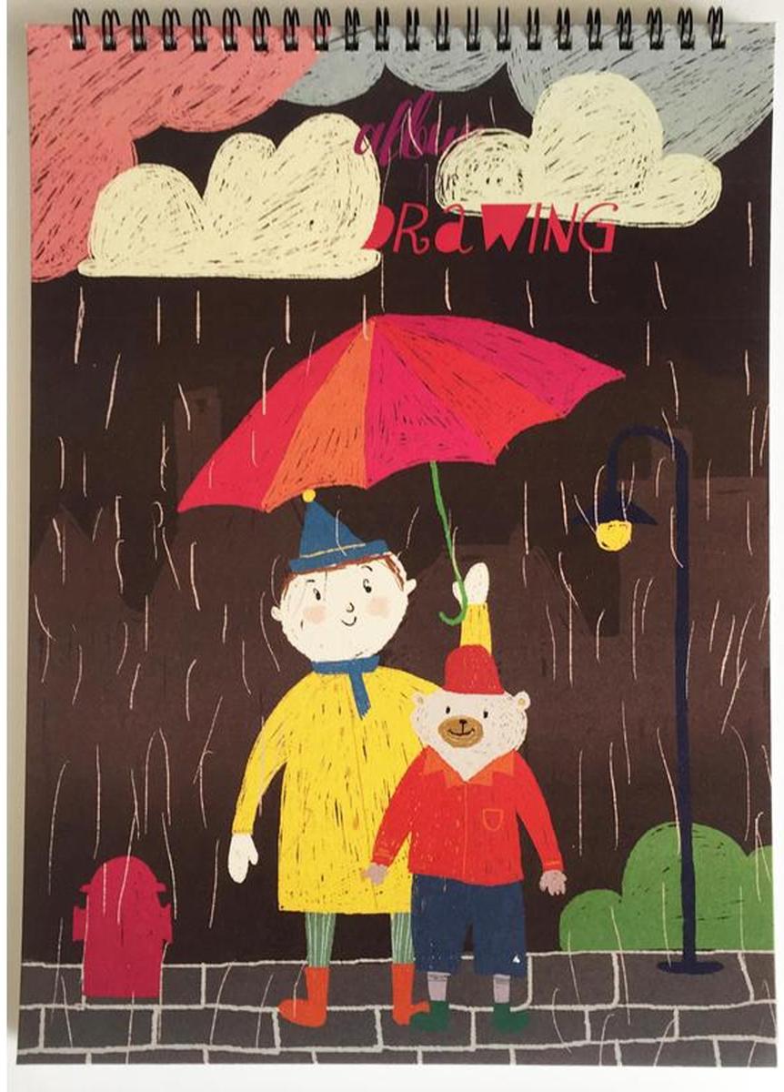 Kroyter Альбом для рисования Друзья А4 40 листов альбом для рисования чудесные иллюзии 40 листов а4 склейка а401604