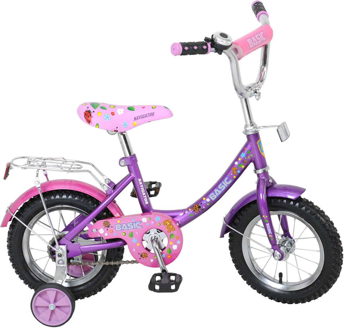 Велосипед детский NavigatorBasic, цвет: фиолетовый, колесо, 12