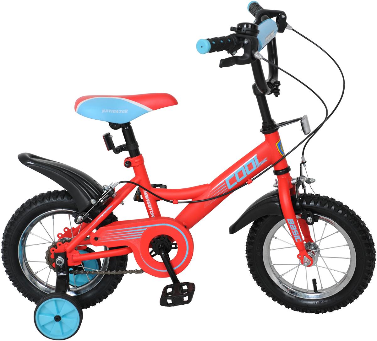 Велосипед детский Navigator Basic Cool, цвет: красный, колесо 12 navigator велосипед двухколесный basic cool