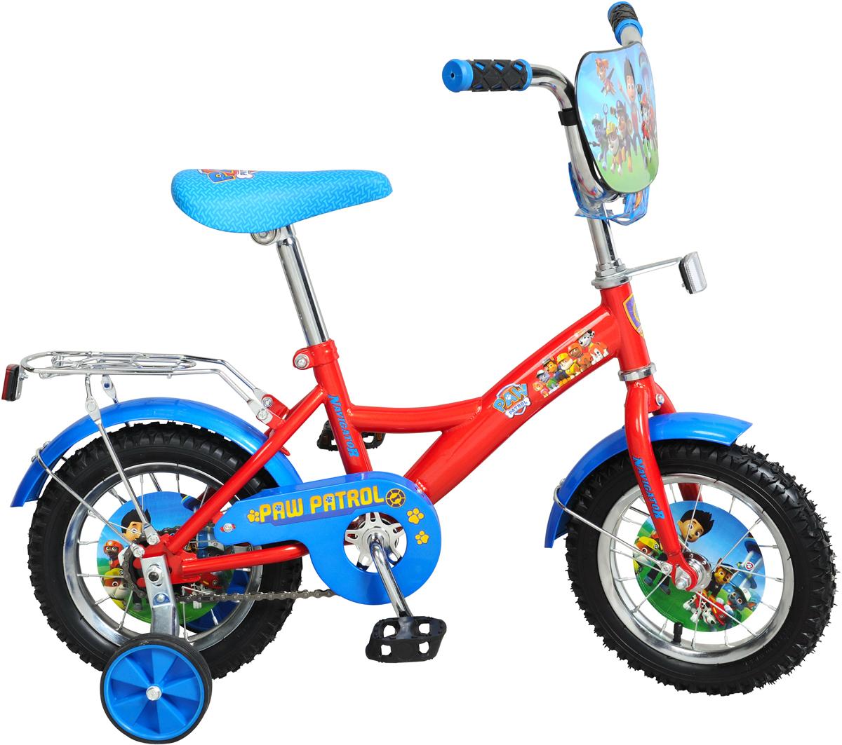 Велосипед детский NavigatorЩенячий патруль, цвет: красный, колесо, 12 детский велосипед riverbike f 18 красный rivertoys