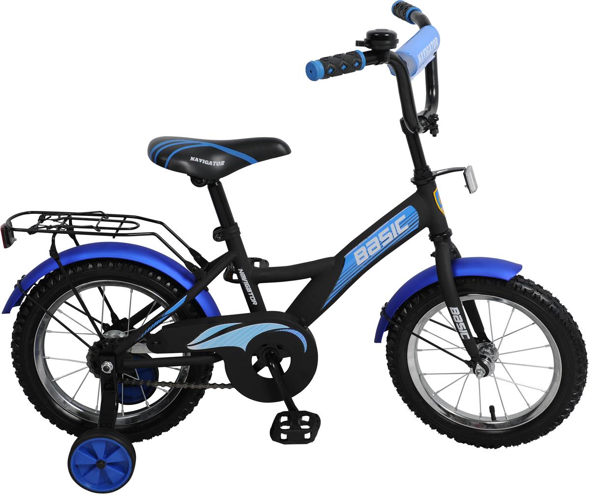 Велосипед детский NavigatorBasic, цвет: черный, колесо, 14