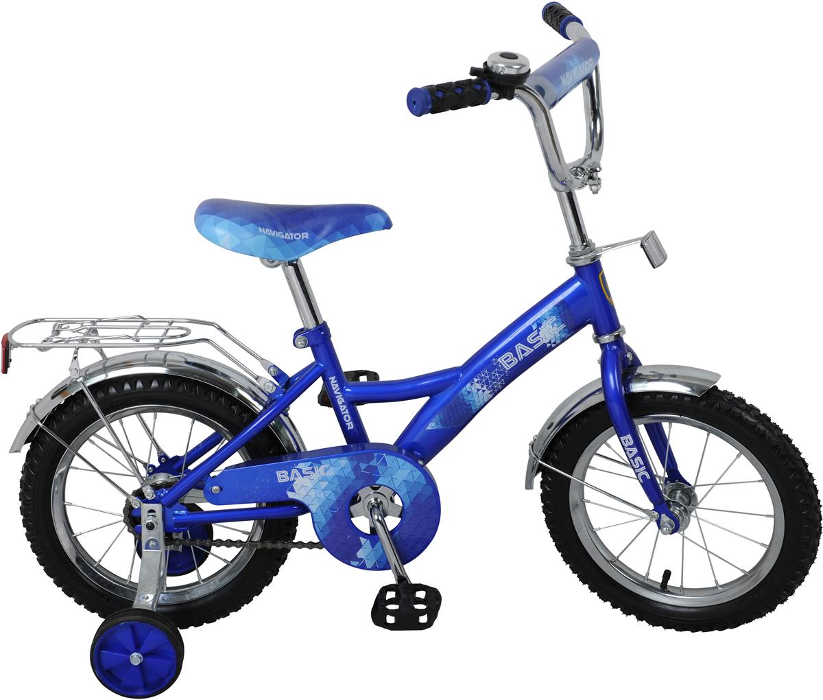 Велосипед детский NavigatorBasic, цвет: синий, колесо, 14