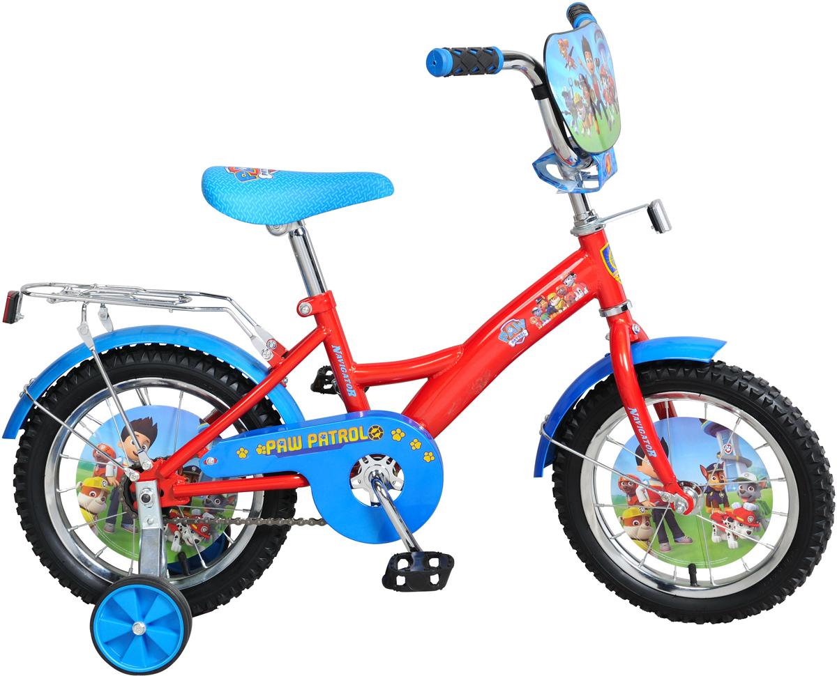 Велосипед детский NavigatorЩенячий патруль, цвет: красный, колесо, 14