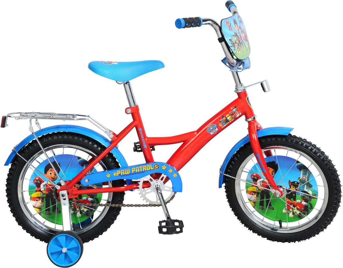Велосипед детский NavigatorЩенячий патруль, цвет: красный, колесо, 16 велосипед детский navigator том и джерри цвет желтый 16 вн16114