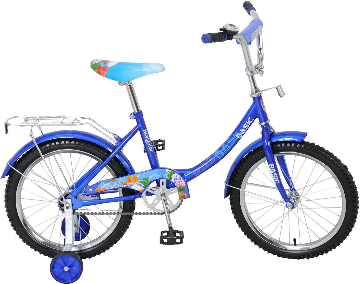 Велосипед детский NavigatorBasic, цвет: синий, рама 12B, колесо, 18