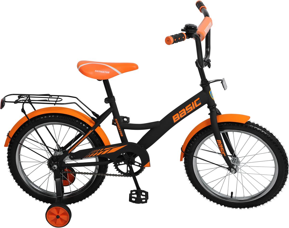 """Велосипед детский Navigator""""Basic"""", цвет: черный, колесо, 18"""""""