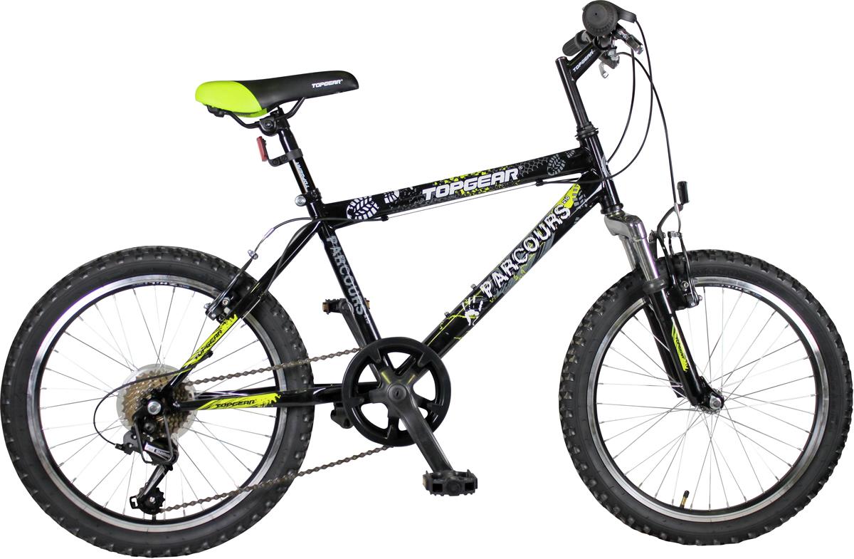 Велосипед детский Topgear, цвет: черный, колесо, 14