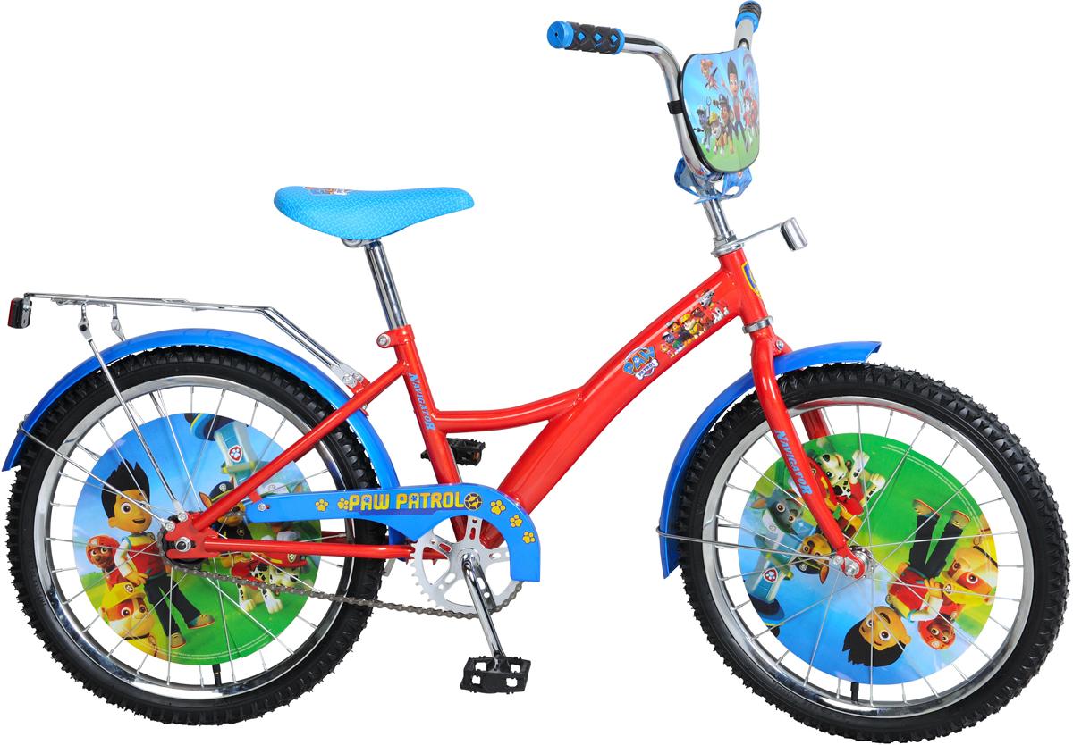 Велосипед детский NavigatorЩенячий патруль, цвет: красный, колесо, 20 детский велосипед riverbike f 18 красный rivertoys