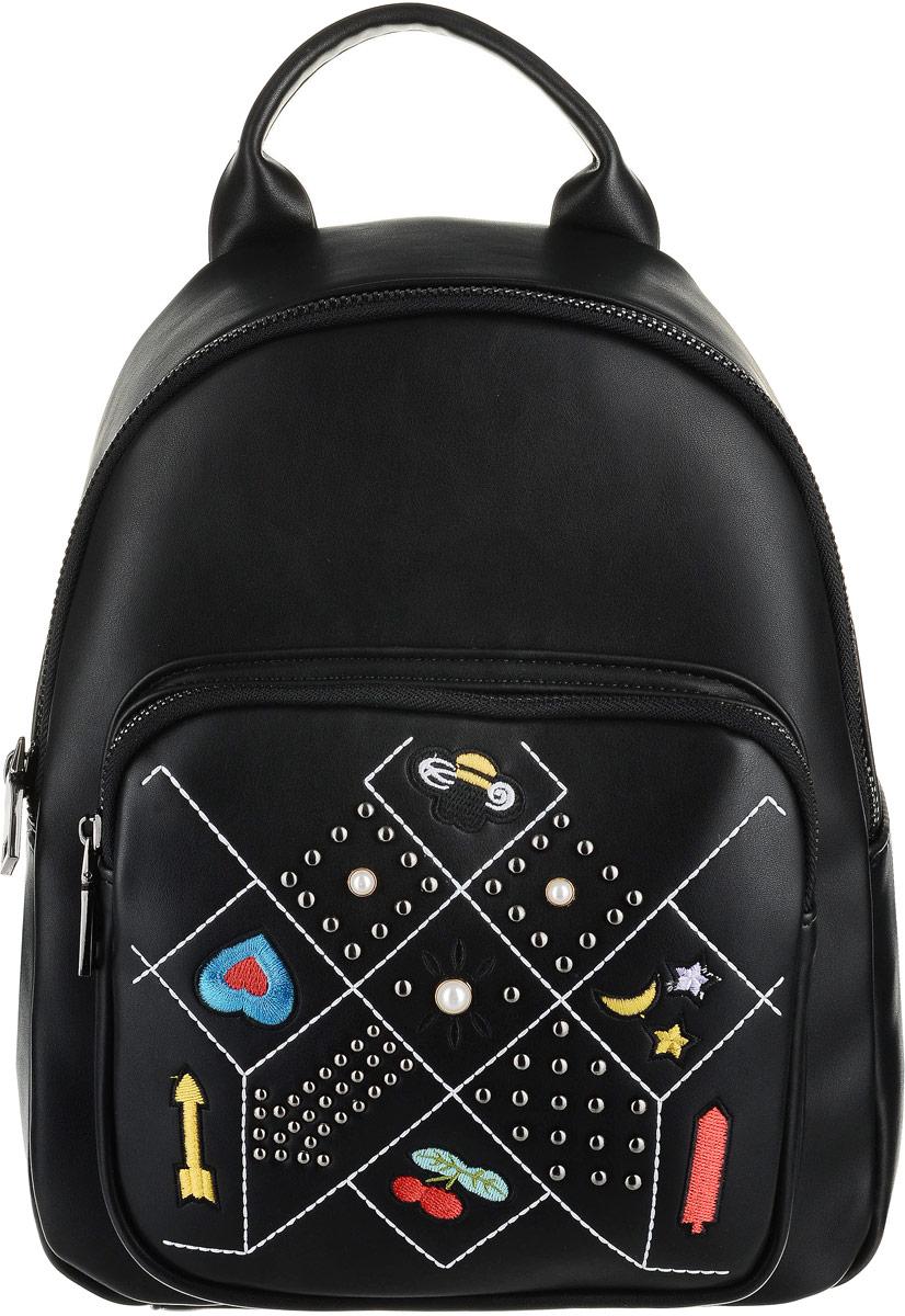 Рюкзак для девочки Vitacci, цвет: черный. BG01009