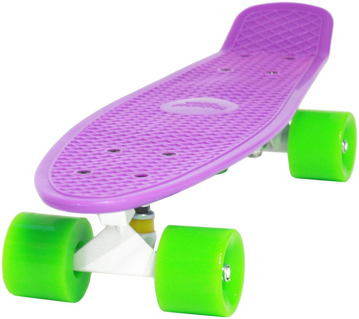 """Пенни борд Hubster """"Cruiser"""", цвет: фиолетовый, зеленый, дека 22"""""""