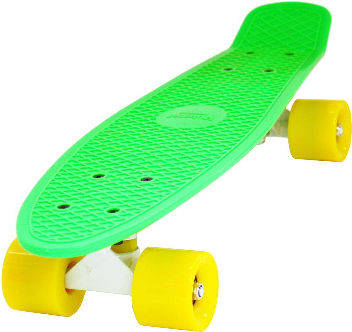 "Пенни борд Hubster ""Cruiser"", цвет: зеленый, желтый, дека 22"""