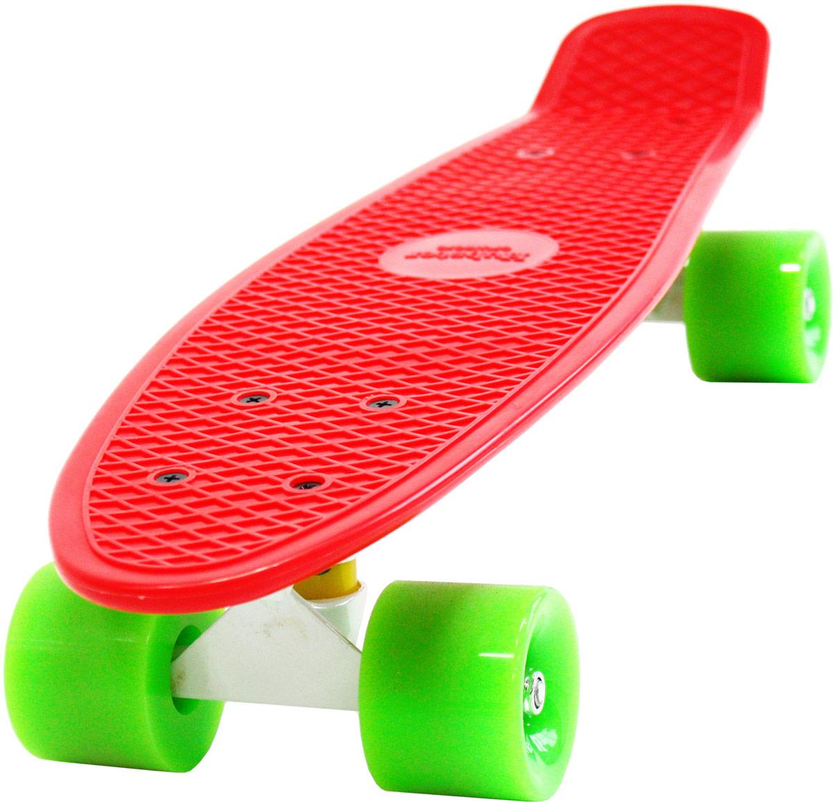 """Пенни борд Hubster """"Cruiser"""", цвет: красный, зеленый, дека 22"""""""
