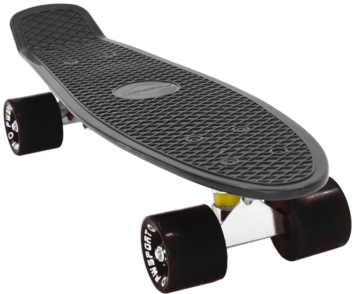 Скейтборд PWSport Classic, цвет: черный, дека 22 скейтборд 8 колес