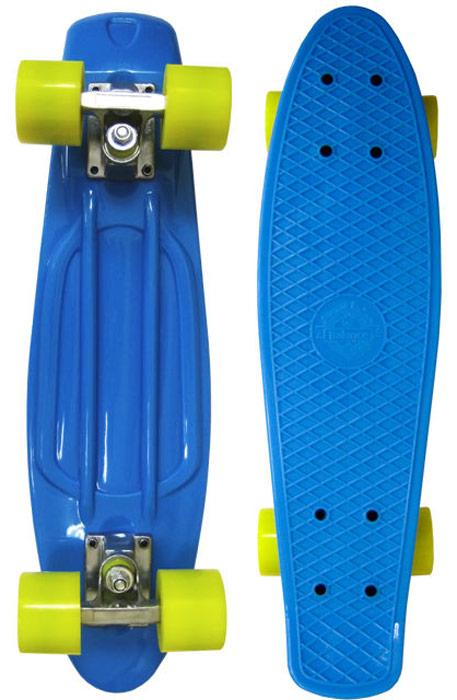 Пенни борд Ecobalance, цвет: синий, желтый, дека 22 ecobalance ecobalance погостик mini желтый