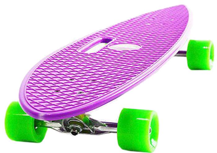 Пенни борд Hubster Cruiser, цвет: фиолетовый, зеленый, дека 36 пенни борд hubster cruiser 22 metallic purple