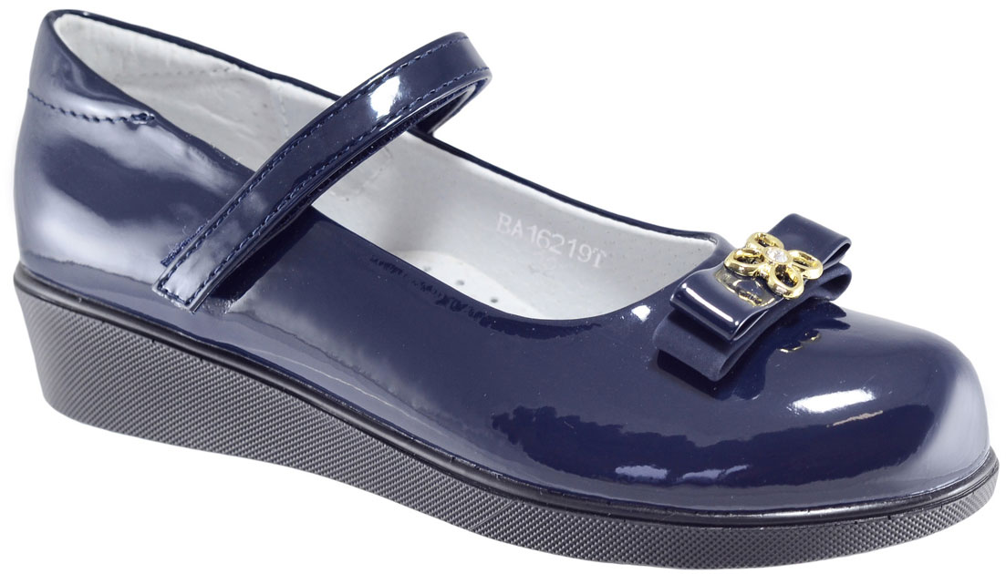 Туфли для девочки Leopard Kids, цвет: синий. BA16219T. Размер 35