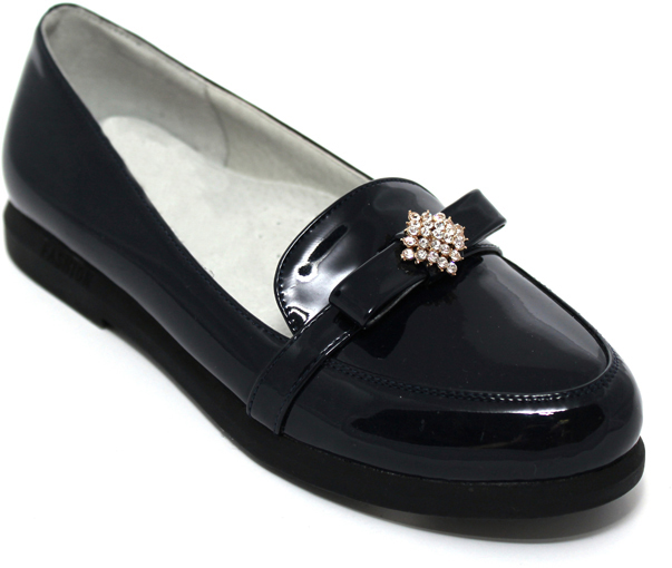 Туфли для девочки Leopard Kids, цвет: черный. 150332. Размер 35