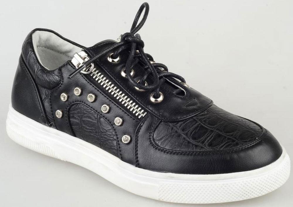 Кеды для девочки Leopard Kids, цвет: черный. 154133. Размер 33